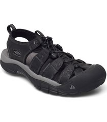 ke newport m black-steel grey shoes summer shoes sandals svart keen