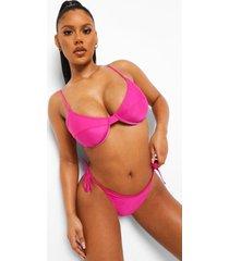 essentials bikini top met vollere cups, bright pink