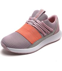 tenis lifestyle lila-coral under armour breathe lace nm2