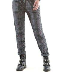 pantalón italiano cotelé cuadrille gris bous