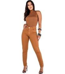calça feminina latifundio alta skinny