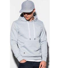 ombre hoodie heren effen basic silver