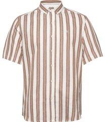 elm shirt overhemd met korte mouwen roze forét