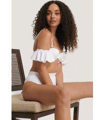 trendyol bikinitopp med rynkad ärm - white