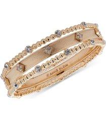 anne klein gold-tone 3-pc. set crystal bangle bracelets