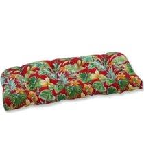pillow perfect beachcrest poppy wicker loveseat cushion