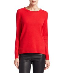 saks fifth avenue women's collection featherweight cashmere sweater - dove heather - size s