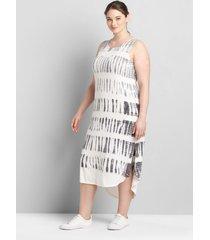 lane bryant women's livi twist-back maxi dress - tie-dye 34/36 white