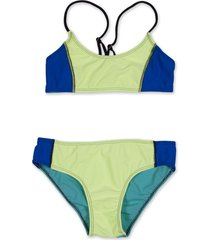 bikini  verde caracoles
