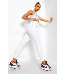skinny jeans met veters, white