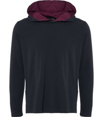 boss by hugo boss mix & match hooded sweatshirt  - dark blue 50379022