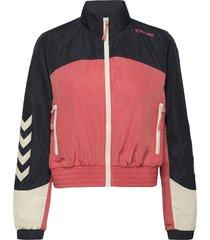 hmldelana loose zip jacket outerwear sport jackets blauw hummel