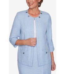 alfred dunner women's missy french bistro jacket