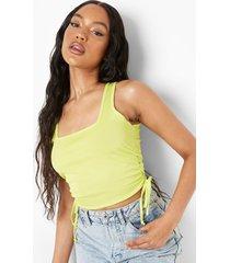 geplooid geribbeld hemd, lime