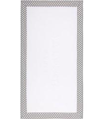 balmain toalha de praia de algodão com estampa de logo - branco