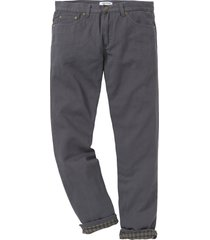 pantaloni termici in twill regular ft (grigio) - john baner jeanswear