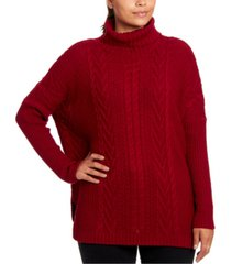 joseph a cable-knit turtleneck sweater