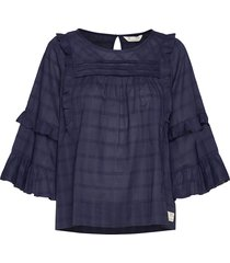 delicately strong blouse blouse lange mouwen blauw odd molly