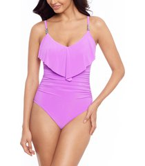 women's magicsuit isabel one-piece swimsuit, size 8 - purple