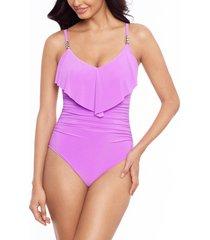 women's magicsuit isabel one-piece swimsuit, size 14 - purple