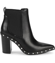 dodger studded point-toe booties