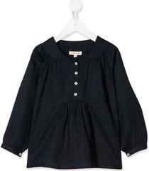 caramel victoria blouse - blue