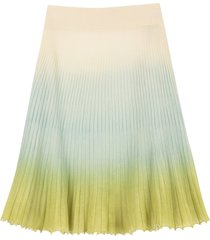 jacquemus pleated knitted skirt