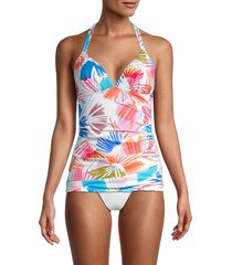 x by gottex women's printed tankini top - size 38 (8)