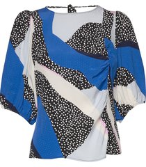 glowiegz blouse ze2 20 blouses short-sleeved blauw gestuz