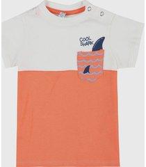 camiseta blanco-naranja-azul people éxito