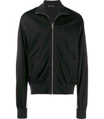 versace medusa strap detail track jacket - black