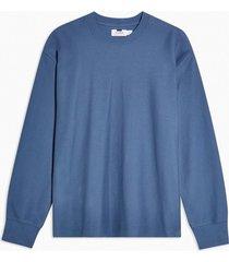mens blue twill sweatshirt