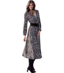 jersey jurk amy vermont grijs::zwart::paars