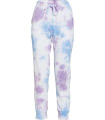 free people women's work it out tie dye jogger pants - purple combo - large cotton