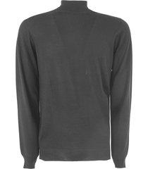 fedeli black virgin wool sweater
