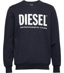 s-gir-division-logo sweat-shirt sweat-shirt trui blauw diesel men