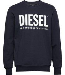 s-gir-division-logo sweat-shirt sweat-shirt trui blauw diesel men