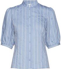 tuangz blouse ze2 19 overhemd met korte mouwen blauw gestuz