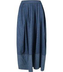 chloé rear zip denim skirt