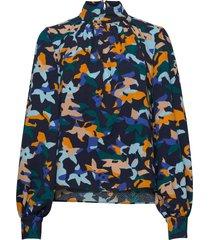eddy, 882 structure stretch blouse lange mouwen stine goya