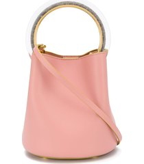 marni ring-handle bucket bag - pink