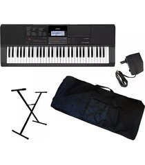 combo casio ct-x800 piano estuche base adaptador