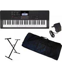 combo casio ct-x800 piano estuche base adaptador