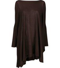 rick owens suéter poncho oversized - marrom