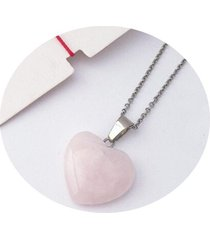 cadena de cuarzo cornalina rosa