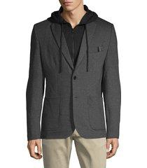 projek raw men's notch-lapel textured blazer - grey - size l