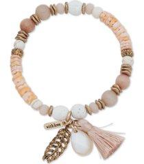 lonna & lilly bead & tassel stretch bracelet