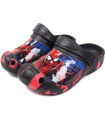 sandalia de eva spiderman negro the brands club