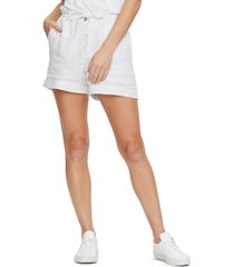 women's michael stars paulette paperbag waist shorts, size small - black