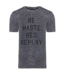 camiseta masculina remastered - cinza